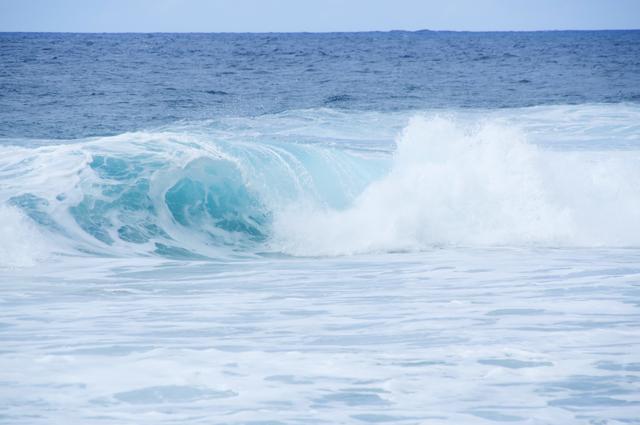 青い海と波